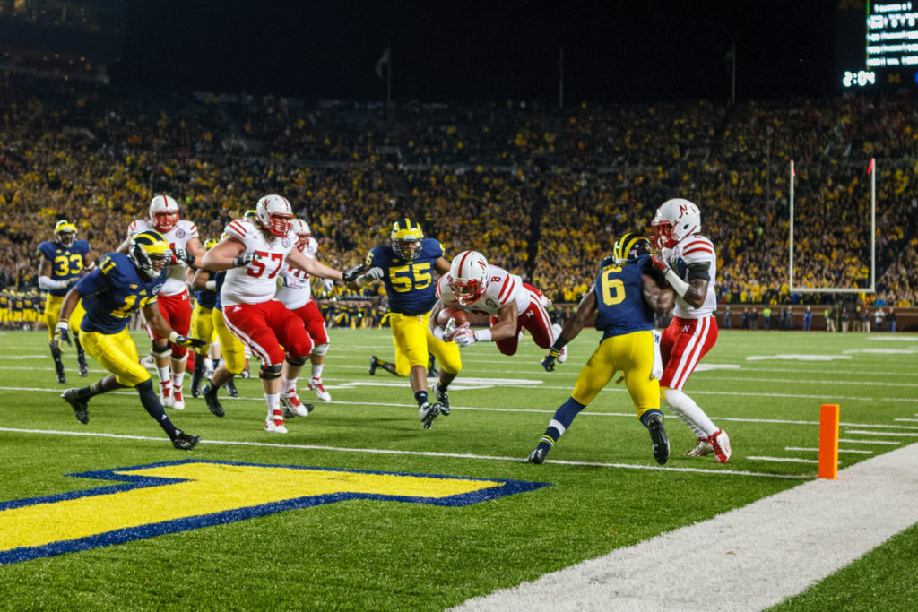 football player scores at Michigan's big house